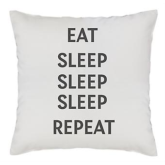 Eat Sleep Sleep Sleep Repeat - Couverture de coussin