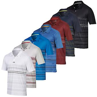 Camisa polo de manga curta listrada oakley Golf Mens High Crest