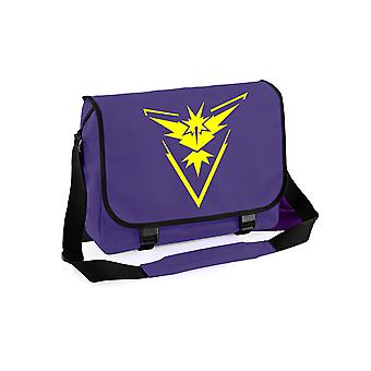 Team instinct messenger bag - pokemon go inspired