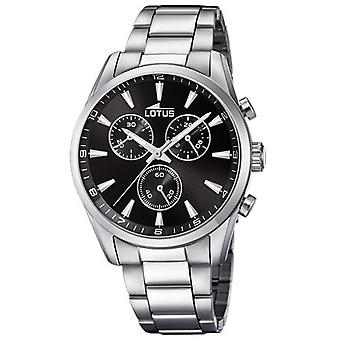 Lotus CHRONO 18365-8 watch - klocka stål Chrono urtavla svart man