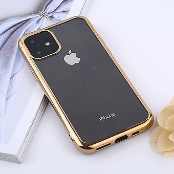iPhone 11 tapauksessa selkeä suojaava takakansi, kulta