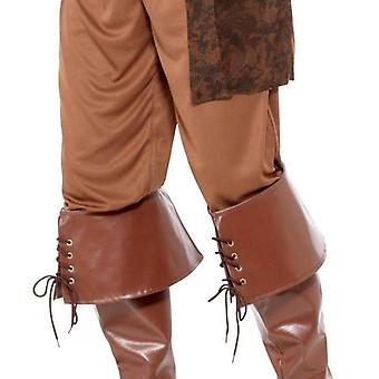 Deluxe Piraten Bootcover Adult Brown