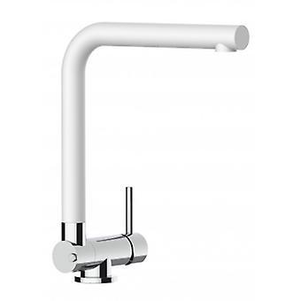 Single-lever Kitchen Sink Mixer With Folding Spout Only 4,5 Cm - Quartz White - 452