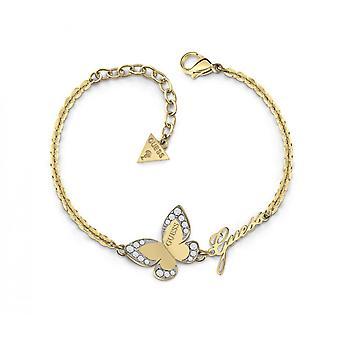Armband Guess Liebe Schmetterling UBB78050 - Armband Stahl Dor Cha keine Schmetterling Crystal Swarovski-Frau