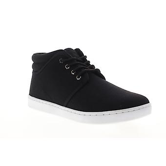Lugz Coal Mid  Mens Black Canvas Lace Up Low Top Sneakers Shoes