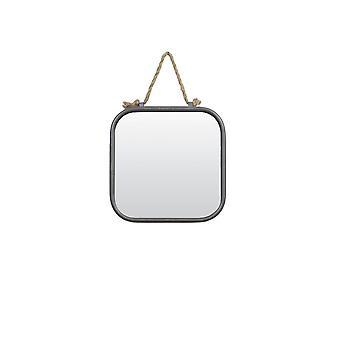ضوء ومرآة المعيشة 24.5x24.5x4cm الفضة العتيقة من يو