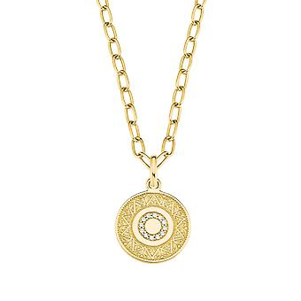 s.Oliver Jewel womens necklace necklace silver gold cubic zirconia coin 2027623