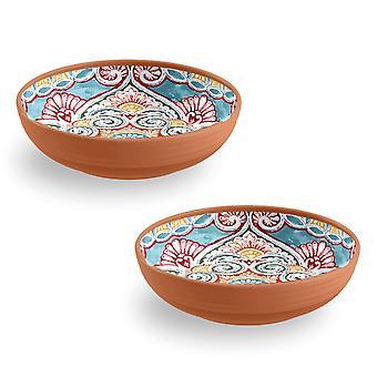 Epicurean Set of 2 Rio Corte Melamine Low Bowls