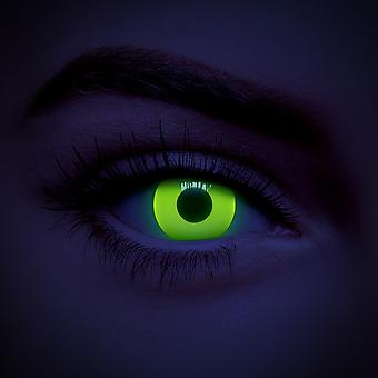 Yellow UV i-Glow Colored Contact Lenses (Daily)
