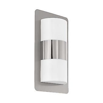 Eglo Cistierna - 2 Light Outdoor Flush Wall Light Stainless Steel IP44 - EG98085