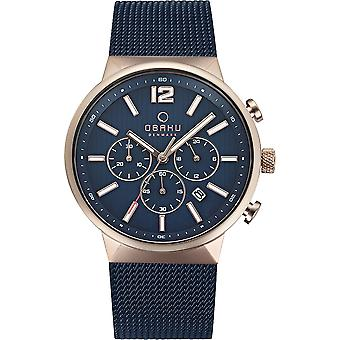 Obaku Storm Ocean Men's Wristwatch V180GCVLML