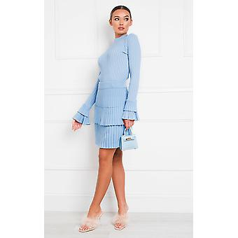 IKRUSH Womens Camille Ribbed Layered Co-ord