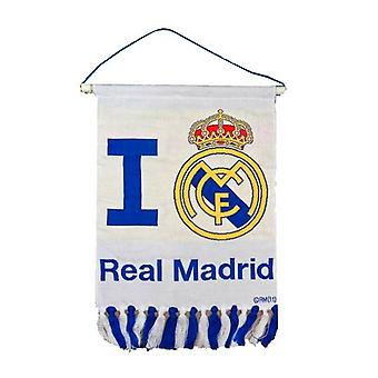 Real Madrid CF Text & Crest Pennant