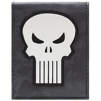 マーベル パニッシャー頭蓋骨シンボル ID ・ カードの二つ折り財布
