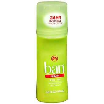 Ban roll-on antiperspirant & deodorant, regular, 3.5 oz