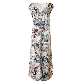 Saint Tropez Palm Print Long Dress