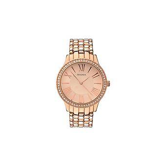 Sekonda Ladies Stone Set Bezel Rose Gold Bracelet Watch 2400