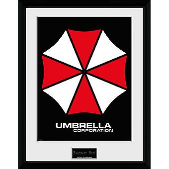 Resident Evil Umbrella Placa Emoldurada 30 * 40cm