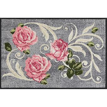 Salonloewe Roses and Ornaments deurmat wasbaar 50 x 75 cm clean-running mat