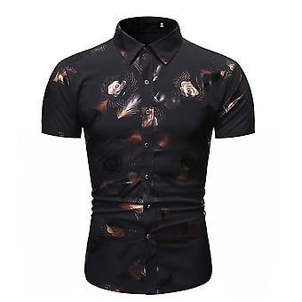 Allthemen Men's Summer Lightweight Bronzing Painettu lyhyt paita