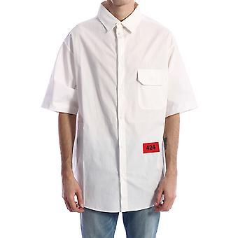 424 20101009150 Men's White Cotton Shirt