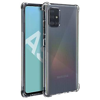 Shockproof Flexible Case for Samsung Galaxy A51 Raised Edge- Akashi, Translucent