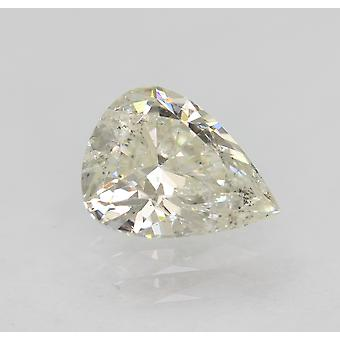 Certified 0.71 Carat H Color SI1 Pear Natural Loose Diamond 7.04x5.49mm 2VG