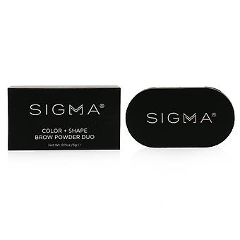 Sigma Beauty Color + Shape Brow Powder Duo - # Dark - 3g/0.11oz