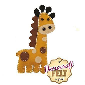 Kit di cucitura FeltRo l'Ollie the Giraffe Felt Sewing Kit