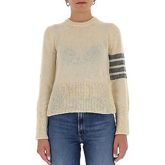 Thom Browne Fka286a01085100 Women's White Wool Sweater