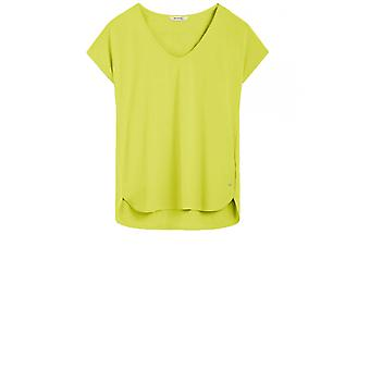 Sandwich Clothing Lime Silky Front Top