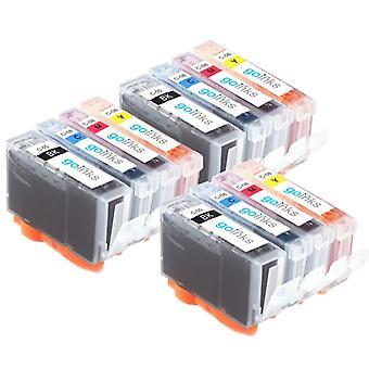 3 4 mustekasettia Korvaamaan Canon SGI-5 & CLI-8 Yhteensopiva/muu kuin OEM Go Inksistä (12 mustetta)