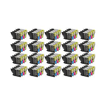 RudyTwos 20x Replacement for Brother LC-985 Set Ink Unit Black Cyan Magenta & Yellow Compatible with MFC-J220, J265W, J410, DCP-J125, J315W, J415W, J515W