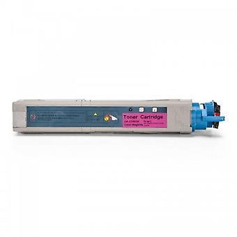 RudyTwos erstatning for Oki 43459330 Toner patron Magenta kompatibel med C3300, C3300n, C3400, C3400n, C3450, C3450n, C3600, C3600n