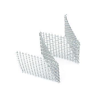 Rack de malha tecido padrão de aço inoxidável pré-moldado 'w' 100x50x50mm Ideal para Disparar Contas