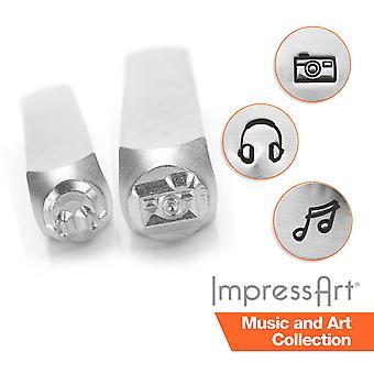 ImpressArt Music and Art Metal Stamping, Metal Stamps, 6mm Size