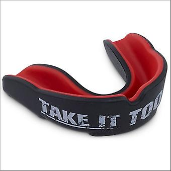 Punchtown grin reaper mouth guard black/red