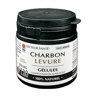 Carbo'activ charcoal yeast in marine capsules 120 capsules