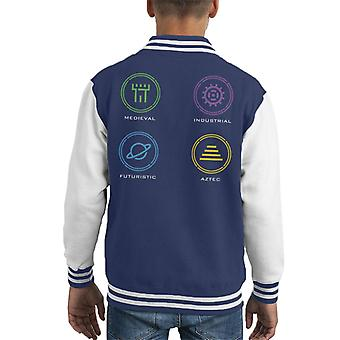 The Crystal Maze Zone Ícones Kid 's Varsity Jacket