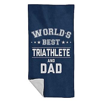 Worlds Best Triathlete And Dad Beach Towel