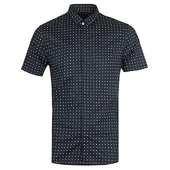 Armani Exchange Dot Navy Short Sleeve Camicia
