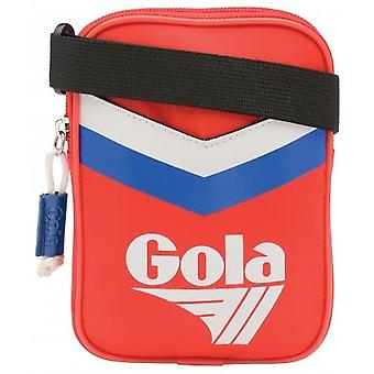 Gola Goodman Chevron Unisex Classic Side Bag in Red White Blue