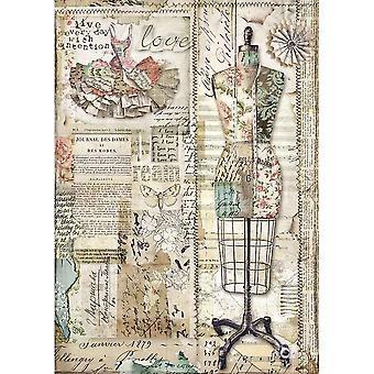 Stamperia Riisi paperi A4 Mallinukke