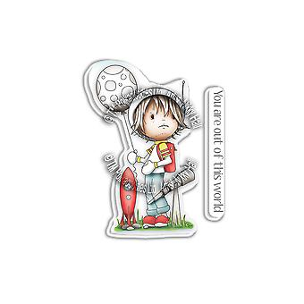 Polkdoodles Little Dudes Astronaute Clear Stamps