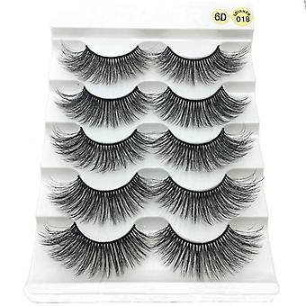 Natural Long Faux Mink Hair Lashes Handmade Cruelty-free Crisscross Eyelashes