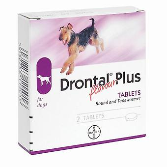 Drontal Plus Rotund și Tapewormer - 1 doză (10kg)