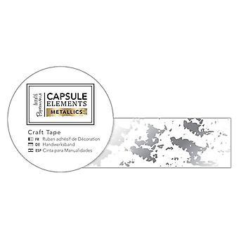 Papermania Capsule Elements Metallic Craft Tape Silver Texture (3m) (PMA 462221)