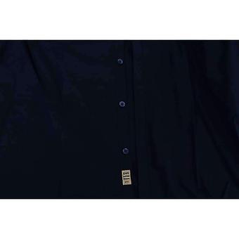 Blue Cotton Slim Fit Casual Shirt -- TSH1888304