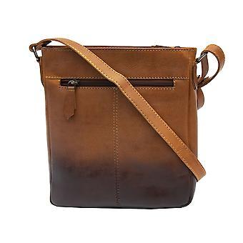 Primehide Kvinnors liten läder tablett väska crossbody axel handväska damer 6361