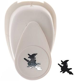 16mm Small Halloween Witch Paper Craft Punch
